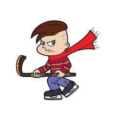 hockey player bully boy vector image