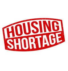 Housing shortage grunge rubber stamp vector