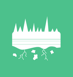 Icon land roots vector
