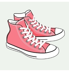 Isolated cartoon pink sneakers vector