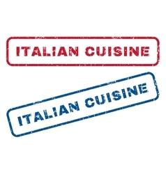 Italian cuisine rubber stamps vector