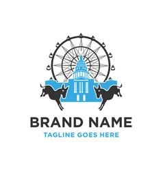 lenmarc logo building vector image