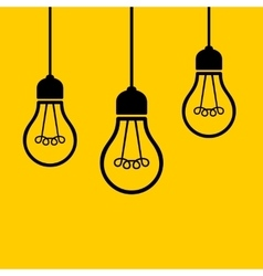 Light Bulbs Hanging from the Ceiling vector image vector image