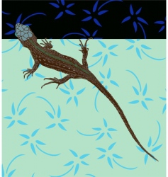 lizard vector image
