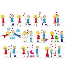 Love story set vector