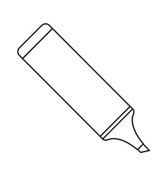 marker school utensil thin line vector image