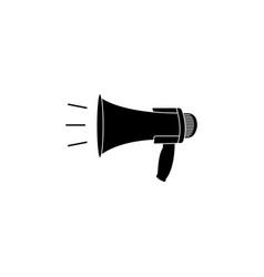 megaphone loudspeaker icon black on white vector image