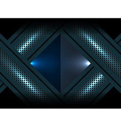 Metallic blue abstract background vector