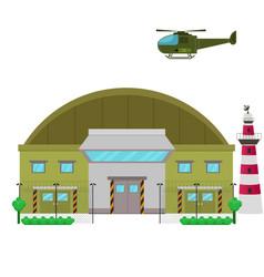 Military base flat design vector