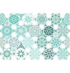 mint blue drops on turquoise and white stripes vector image