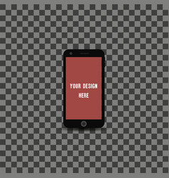 new version of high detailed realistic smartphone vector image