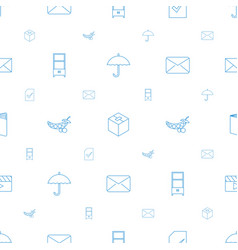open icons pattern seamless white background vector image
