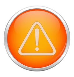 Orange warning icon vector image