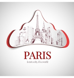 Paris city emblem vector image