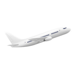 passenger airplane stock vector image