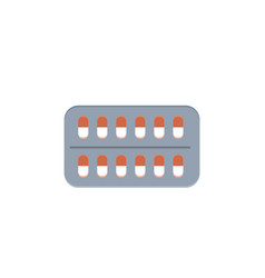 pills pack medicine icon in vector image
