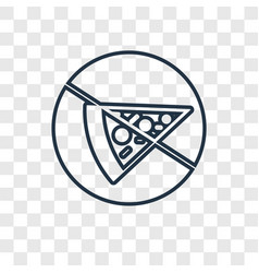 pizza concept linear icon isolated on transparent vector image