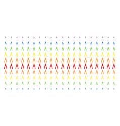 pliers shape halftone spectral effect vector image