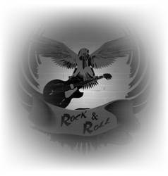 rock n roll with an eagle on a background of a vector image