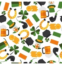 seamless pattern of Saint Patrick vector image