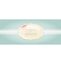 Shabby chic provence style card vector