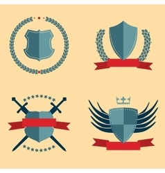 Shields - heraldic design elements vector image