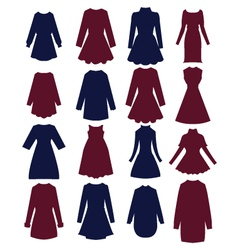 Silhouettes of beautiful women-dress vector