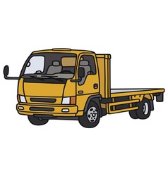 Small orange lorry vector image