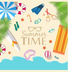 summer vecetion time background vector image
