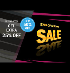 super sale banner template sale banner design vector image