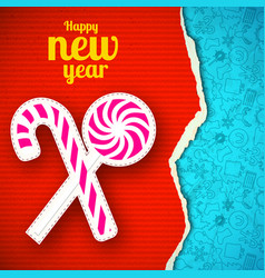 torn new year paper template vector image
