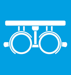 trial frame for checking patient vision icon white vector image