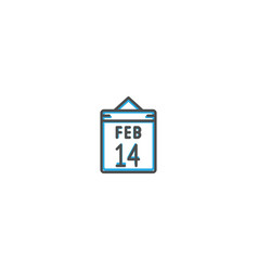 valentine day icon design lifestyle icon vector image
