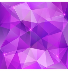 Violet crystal abstract background vector image