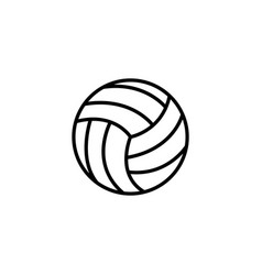 web line icon volleyball black on white vector image