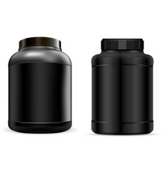 whey protein container black protein jar can vector image