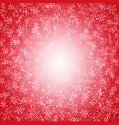 winter time of red christmas with snowflakes vector image