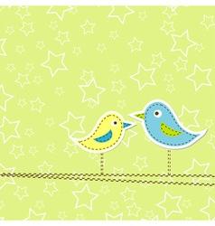 birds greeting card design vector image vector image