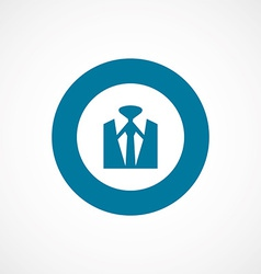 business wear bold blue border circle icon vector image