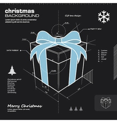 Christmas gift box infographic design vector image