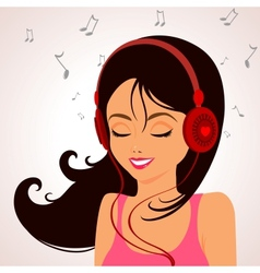 girl music vector image vector image