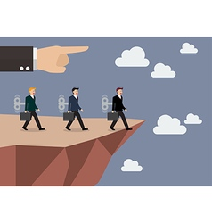 Mechanical businessmans walk straight into the vector image vector image