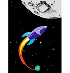 Rocket to the Moon vector image
