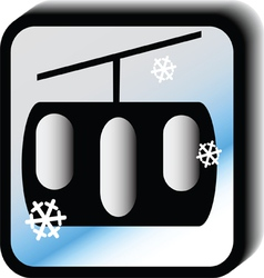 Winter icon - lift vector image vector image
