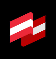 austria flag ribbon isolated austrian banner tape vector image