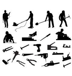 Builders vector image vector image