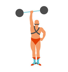 circus strongman icon vector image