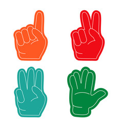 fan hand sports vector image vector image