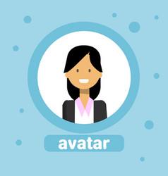 female avatar businesswoman profile icon user vector image vector image