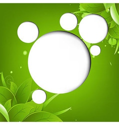 Green Eco Background With Web Speech Bubble vector image vector image